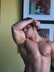 Roll 512 - 45 (Bivolari) Tags: muscles posing definition bodybuilder biceps flexing