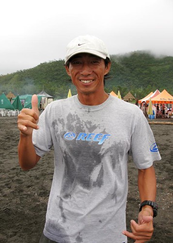 Taiwanese surfer, Mr. Ku