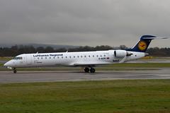 D-ACPR - 10030 - Lufthansa Regional CityLine - Canadair Cl-600-2C10 Regional Jet CRJ-701ER - Manchester - 081126 - Steven Gray - IMG_3542