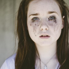 (laurenmarek) Tags: light portrait girl face square nikon focus texas dof sad natural sister sigma adobe crop teenager mascara cry lightroom 30mm d40 laurenmarek marymarek