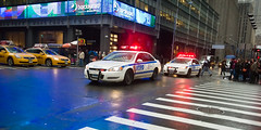 NYPD Responds Energetically (Diacritical) Tags: lights nypd sirens timessq 32mm 2470mmf28 d700