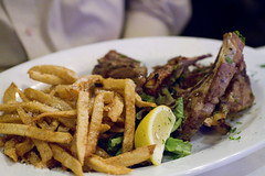 Lamb Chops with Greek Fries