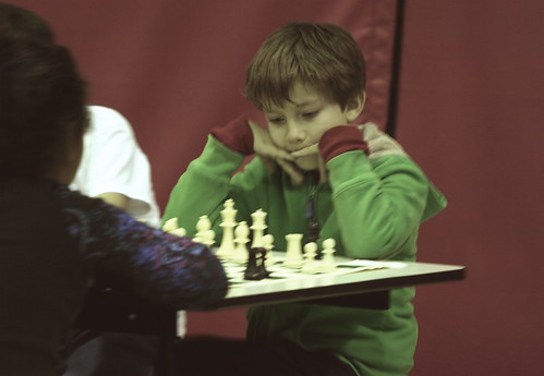 3/13/10 - Jonathon at his first chess tournament