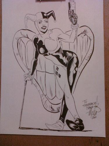 Harley Quinn con sketch