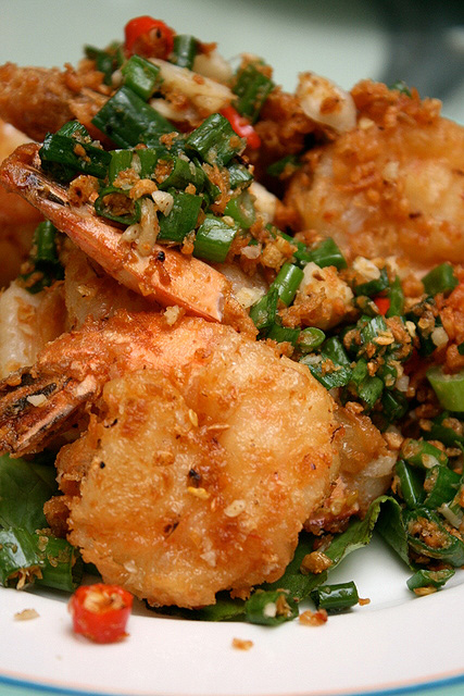 Fried Prawns with Pepper & Salt