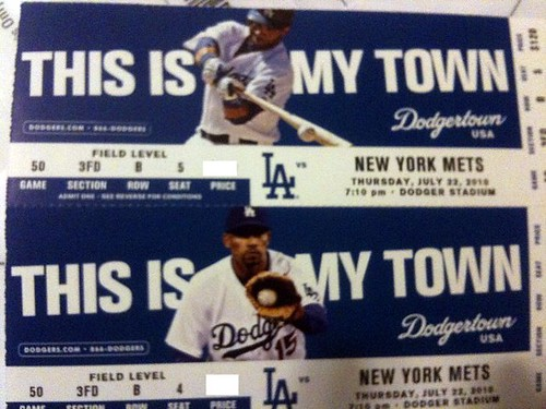 WWOOOOO. One set of mets v dodgers tickets in