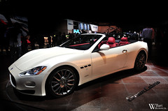 Maserati GranCabrio (Bart Willemstein) Tags: auto show lighting red white cars girl car nikon geneva autoshow s automotive babe chick international gran motor lovely nikkor 80th genve cabrio carshow maserati motorshow 2010 granturismo bartw d300s autogespot autogespotcom bartwillemsteinnl grancabrio