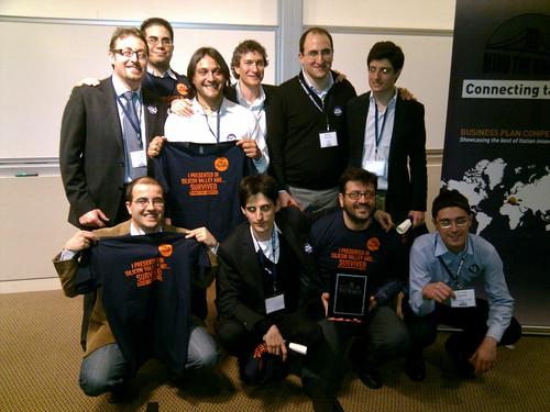 Le aziende finaliste e gli organizzatori dellevento