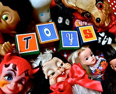 TOYS ! (Toypincher) Tags: alan modern vintage toy toys wooden doll letters deer collection made bow moomin stitches toss devil troll blocks bonnet skunk collectable rattle pedigree sindy mumsy bambie rushton dikkens