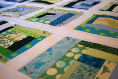 Birds and Trees Quilt Basted