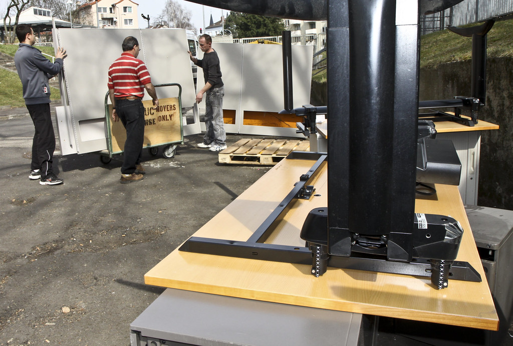 USACE donates office furniture to international nonprofit in Romania