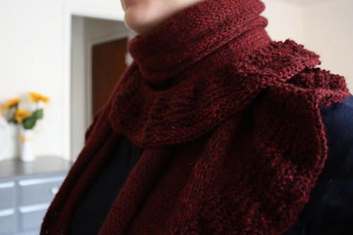 A Little Ruffle Scarf: single wrap
