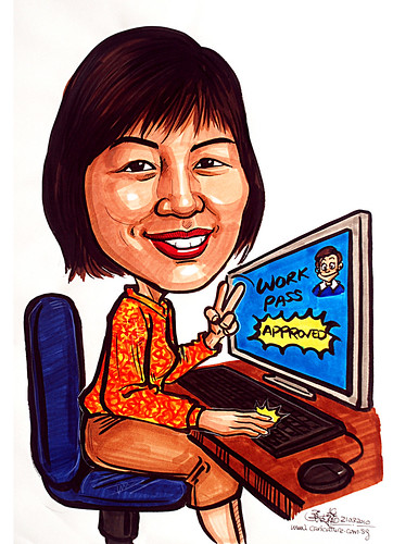 Caricature for Ministry of Manpower - 9