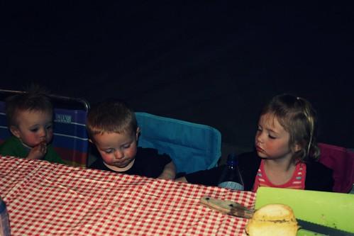 dinner time- pasta night.