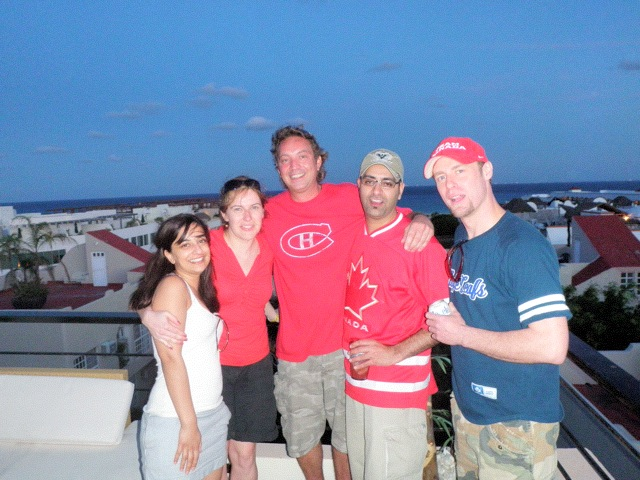 Roof Top Party After Canada Wins Olympic Gold