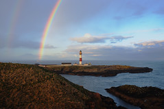 Double rainbow over Buchan Ness, Boddam, Aberdeenshire (iancowe) Tags: lighthouse rain clouds scotland rainbow aberdeenshire scottish stevenson rainy buchan ness raincloud peterhead buchanness boddam lighthousetrek lightkeeperaward wbnawgbsct
