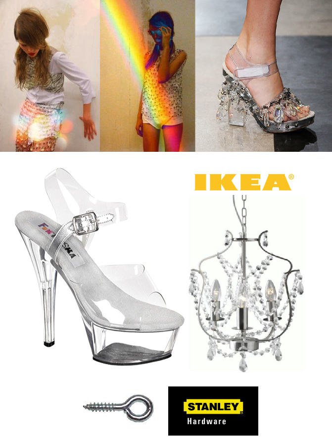 DIY chandellier heels by BleachBlack