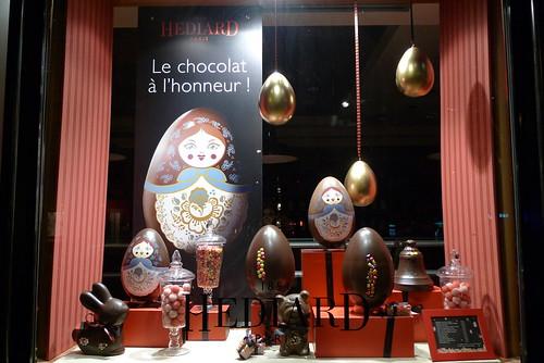 Vitrines Hédiard - Pâques - Paris, mars 2010