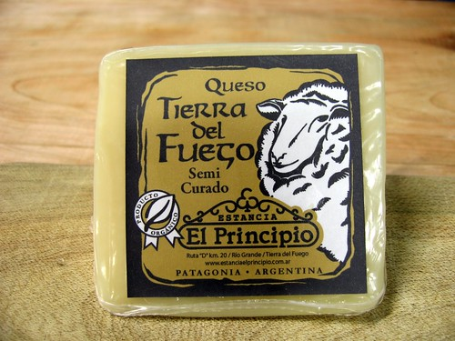 Cheese made with sheep's milk in Tierra del Fuego