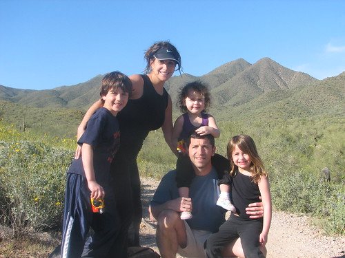 Great family photo in the Sonoran Desert