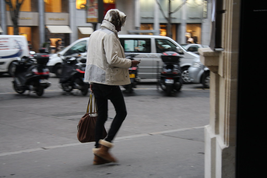 fashionable man in the streets of paris