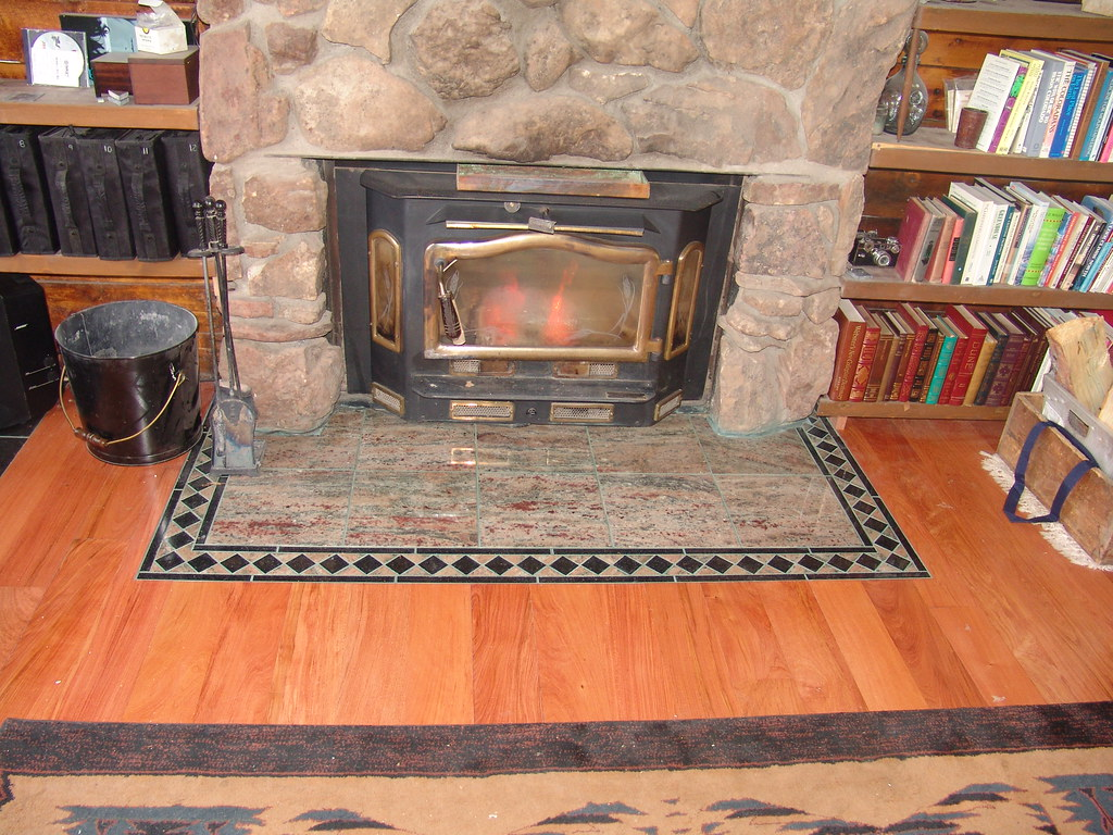 Granite Tile Hearth