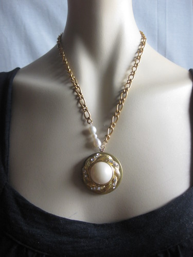 Pearl in love locket