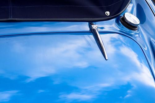 Austin Healey 3000 - coffre et bouchon d'essence