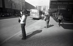 kpmg (teh hack) Tags: street camera bridge bw film mike analog trash toy downtown edmonton slim wide delta nb iso plastic alberta 400 200 pro asa clone vivitar ultra ilford ei toycam analogic trashcam 22mm ddx ilfotec eximus
