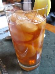 park 75 - iced tea with tea ice cubes