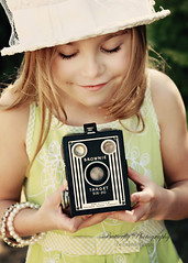 A good picture stops a moment from running away! (Kimberly Chorney) Tags: sunlight vintage treasure naturallight littlegirl takingapicture sweetsmile vintagetones brownievinatgecamera