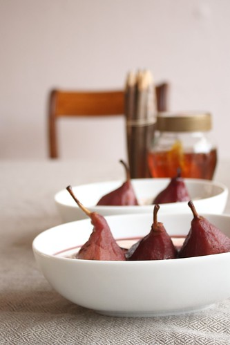 Pears in red wine II