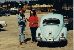 Buying my '63 VW, April 16, 1990 (63vwdriver) Tags: vw bug volkswagen turquoise connecticut beetle zips purchase 1963 turkis
