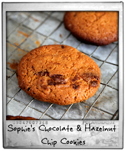 Sophie's Chocolate & Hazelnut Chip Cookies