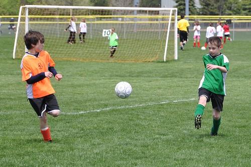 Benton chases down a ball