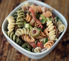 parm, olive & pepperoni pasta salad (rachel is coconut&lime) Tags: cheese recipe italian olive pasta parmesan pepperoni greenolive pastasalad