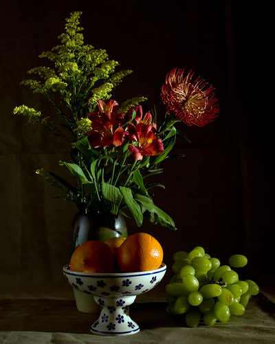 Oranges, Grapes and Flowers