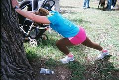 Jenny Post Race Stretching