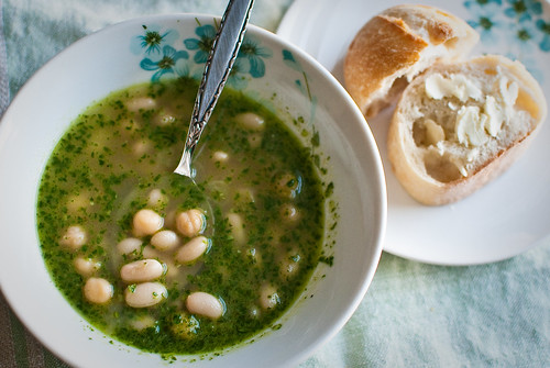 White Bean and Pesto Soup | eat.repeat