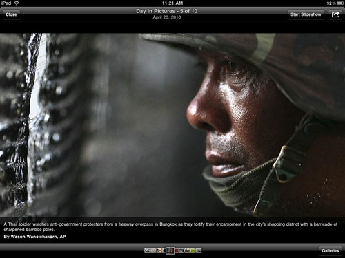 USA TODAY for iPad: US soldier
