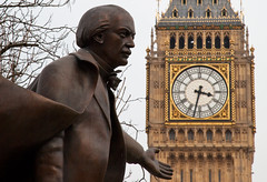 David and Ben (John_Kennan) Tags: city greatbritain england london tower history statue democracy memorial ben unitedkingdom parliament bigben parliamentsquare politician lloydgeorge davidlloydgeorge
