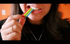 Eating colours (Honey Pie!) Tags: colors girl mouth cores colours candy teeth colores garota boca doce dentes