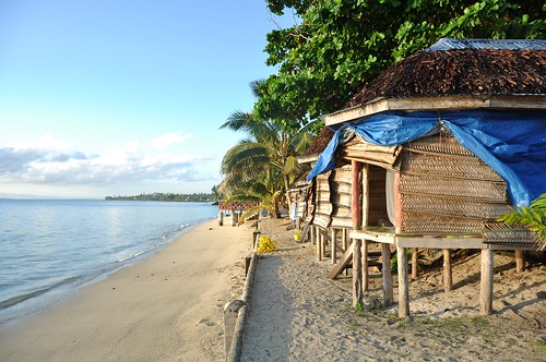 Every night we slept in fales (huts) like these, right next to the beach