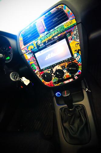 WRX center console