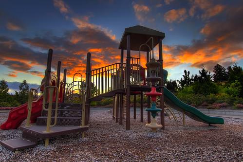 My Playground at Sunset - HDR