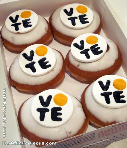 Krispy Kreme Vote Doughnuts