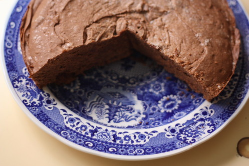 Gluten-free [Altered to be Glutenous] Chocolate Cake