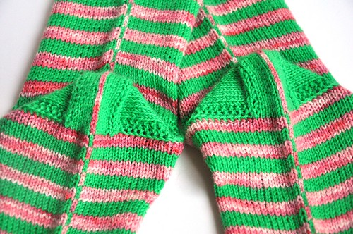 3rd pair of burning stripes socks finished-7