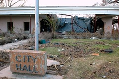site of the destroyed city hall (by: Mark Wolfe, FEMA)