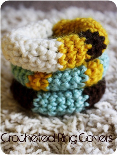 Crocheted Baby Ring Covers